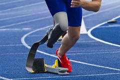 Handicapped sprinter stock photography