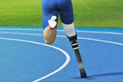 Handicapped sprinter royalty free stock photos