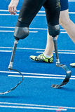 Handicapped sprinter walking royalty free stock photos