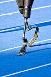 Handicapped sprinter walking stock photography