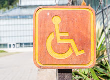 Handicapped symbol Stock Photo
