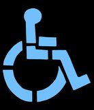 Handicapped Symbol. Isolated on black Royalty Free Stock Image