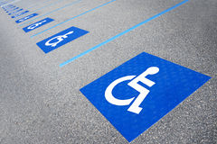 Handicapped symbol disabled parking sign Stock Images