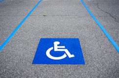 Handicapped symbol disabled parking sign Royalty Free Stock Images