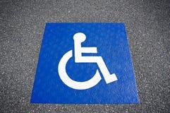 Handicapped symbol disabled parking sign Stock Images