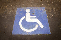 Handicapped symbol Stock Photos