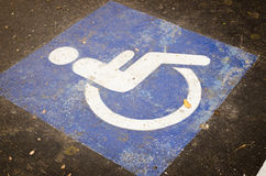 Handicapped symbol Royalty Free Stock Images