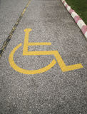 Handicapped symbol. Royalty Free Stock Photo