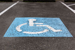 Handicapped symbol Royalty Free Stock Photography