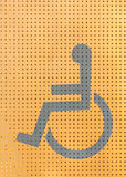 Handicapped symbol in a phone booth.  royalty free stock photography