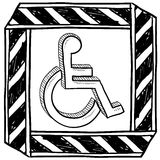 Handicapped symbol sketch Royalty Free Stock Images