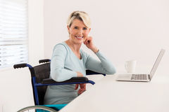 Handicapped woman relaxing home Royalty Free Stock Photography
