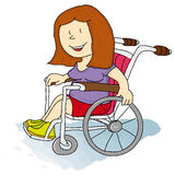 Handicapped women Stock Photo