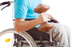 Handicapped working out Royalty Free Stock Images