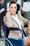 Handicapped young woman Royalty Free Stock Photos