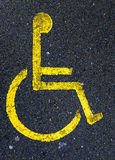 Handicapped zone Stock Photo
