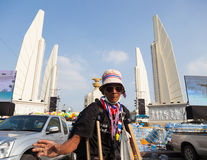The handicapper protester. BANGKOK,THAILAND-DECEMBER  : The handicapper protester come out to against the government on Ratchadumnoen road in Bangkok on December Stock Image