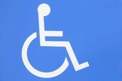 Handicapteken Stock Afbeeldingen