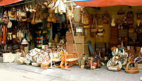 Handicraft. Shops are selling handicraft from suburb of Hanoi, Vietnam Stock Image