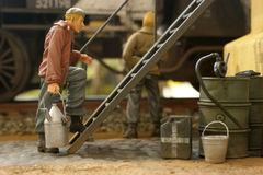 Handicraft. A model scale figure in detail Royalty Free Stock Photos