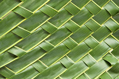 Handicraft  art with coconut leaf Stock Photo