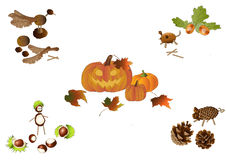 Handicraft in autumn Royalty Free Stock Images