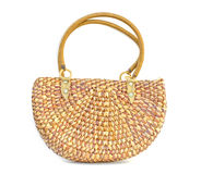 Handicraft bag made by water hyacinth dried. Stock Photography