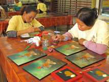 Handicraft in Cambodia Royalty Free Stock Photos