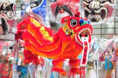 Handicraft of chinese lion Stock Photos
