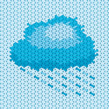 Handicraft cloud illustration Stock Photography