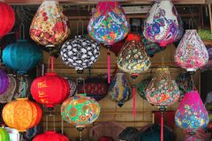 Handicraft colorful lamps Stock Images