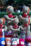 Handicraft dolls. Handicraft decorative dolls, ethnic style woman symbol Stock Photos