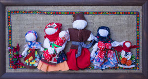 Handicraft dolls. Ethnic style family symbol Stock Images