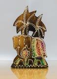 Handicraft wood elephant Royalty Free Stock Photography
