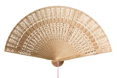 Handicraft folding fan Royalty Free Stock Photo