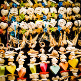 Handicraft fragrances in Tuscany. Handicraft soaps and bath fragrances photographed in a little shop in Tuscany Royalty Free Stock Image
