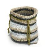 Handicraft handmade knitting small bag 3d render on white Royalty Free Stock Photography