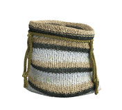 Handicraft handmade knitting small bag 3d render on white withou Royalty Free Stock Photography