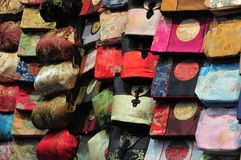 Handicraft of hong kong. The pictures show the handicraft (bags Stock Photos