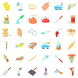 Handicraft icons set, cartoon style Stock Photography