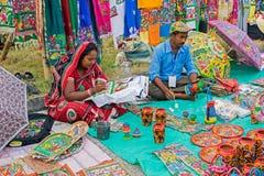 Handicraft items on display , Kolkata Royalty Free Stock Image