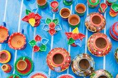 Handicraft items made of clay on display , Kolkata Royalty Free Stock Photo