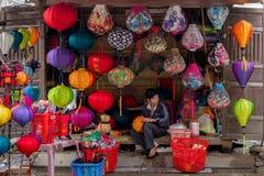 Handicraft lantern store Royalty Free Stock Images