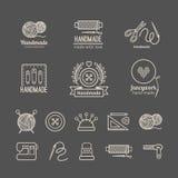 Handicraft logo set Stock Image