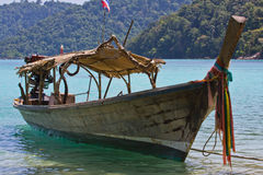 Handicraft long tail boat Royalty Free Stock Image