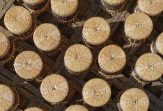 Handicraft made of bamboo for sale Royalty Free Stock Photography