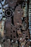 Handicraft metal artwork from used spare parts. Handicraft metal artwork from used car parts Stock Image