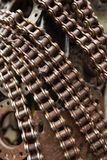 Handicraft metal artwork from used spare parts. Handicraft metal artwork from used car parts Stock Images
