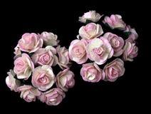 Handicraft paper as rose flower Stock Photo