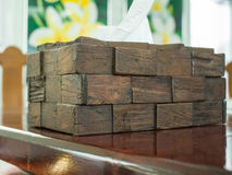 Handicraft product. Tissue box - the handicraft product with potential value Royalty Free Stock Photography